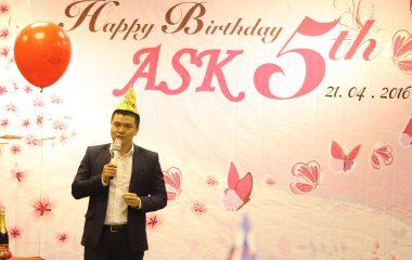ASK tưng bừng kỉ niệm 5 năm thành lập và phát triển