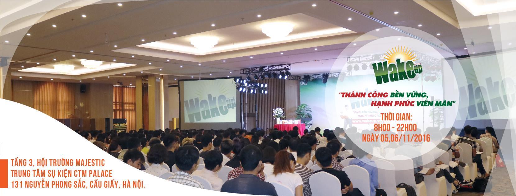 Thông báo địa điểm tổ chức khóa học WAKE UP 19 tại Hà Nội