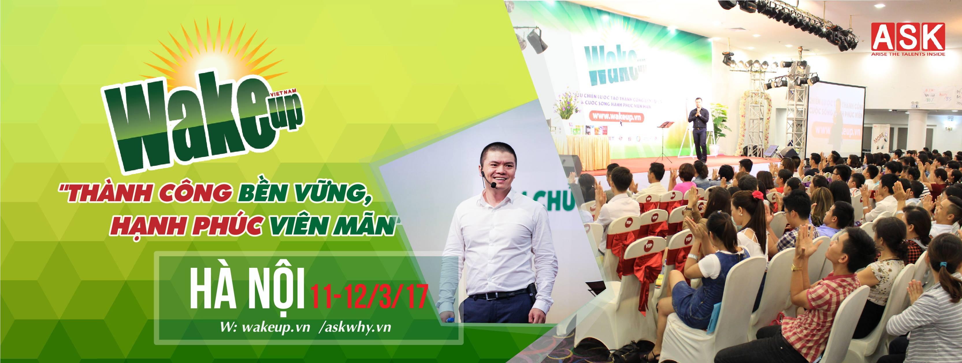 Thông báo địa điểm tổ chức Wake Up tháng 3 tại Hà Nội