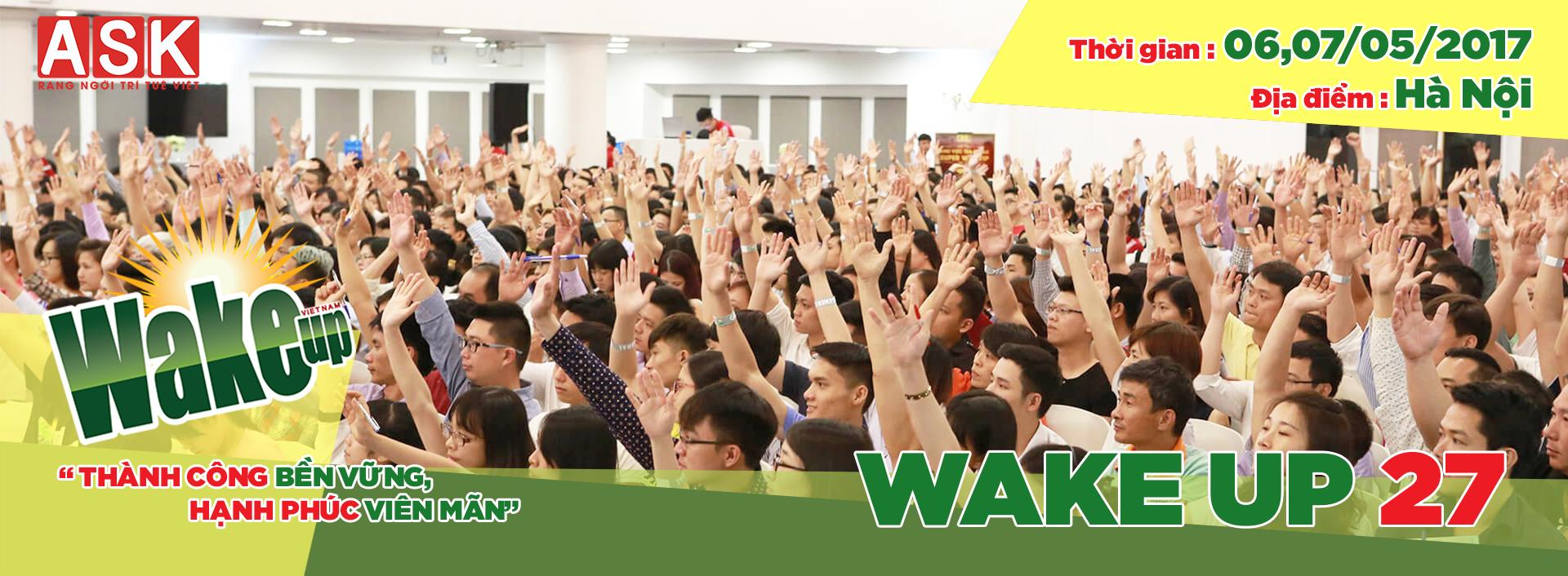 thông báo địa điểm tổ chức khóa học wake up 27