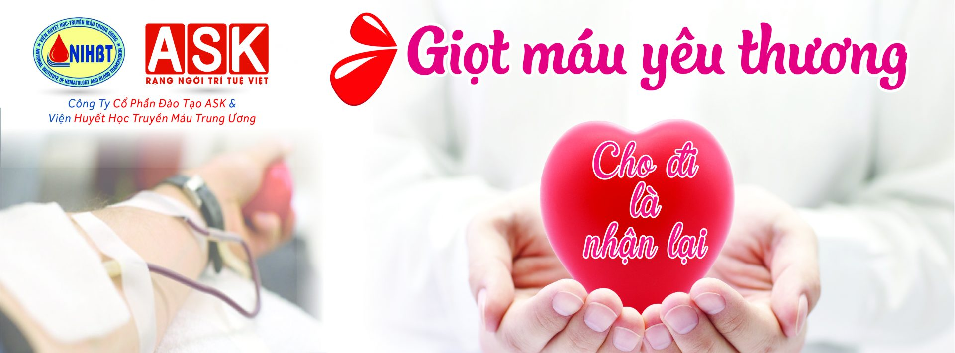 """Thông báo chương trình hiến máu nhân đạo: """"GIỌT MÁU YÊU THƯƠNG"""" ngày 09/04/2018"""