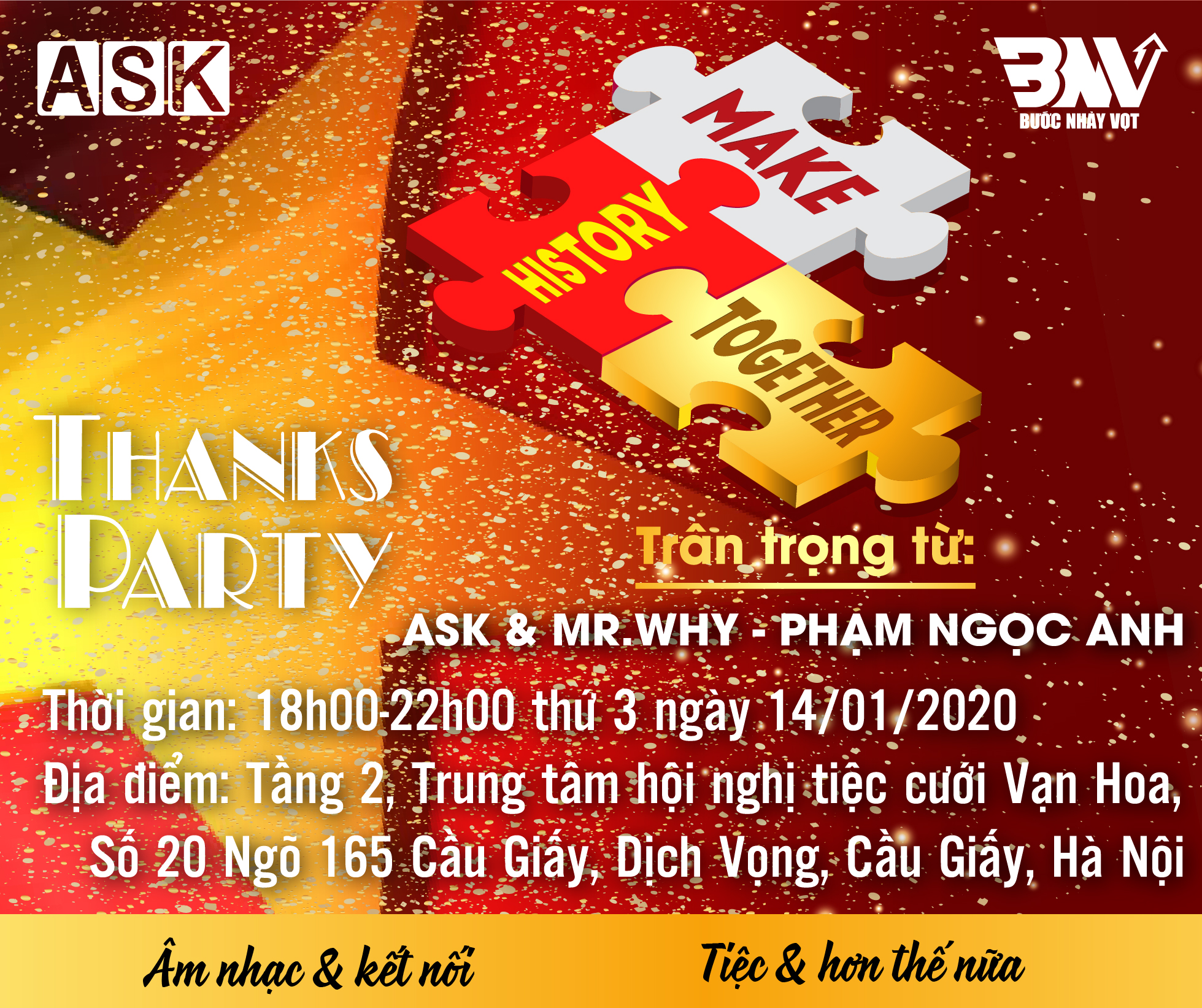 THANK PARTY HÀ NỘI: MAKE HISTORY TOGETHER