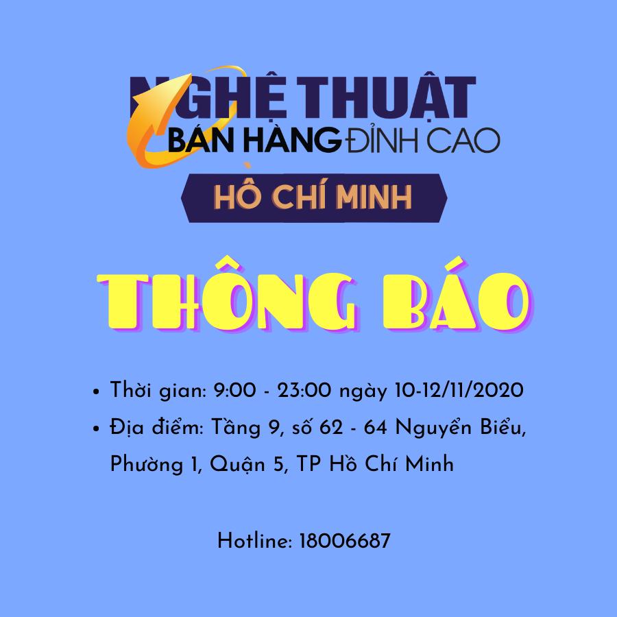 Bán hàng đỉnh cao Hồ Chí Minh tháng 11/2020