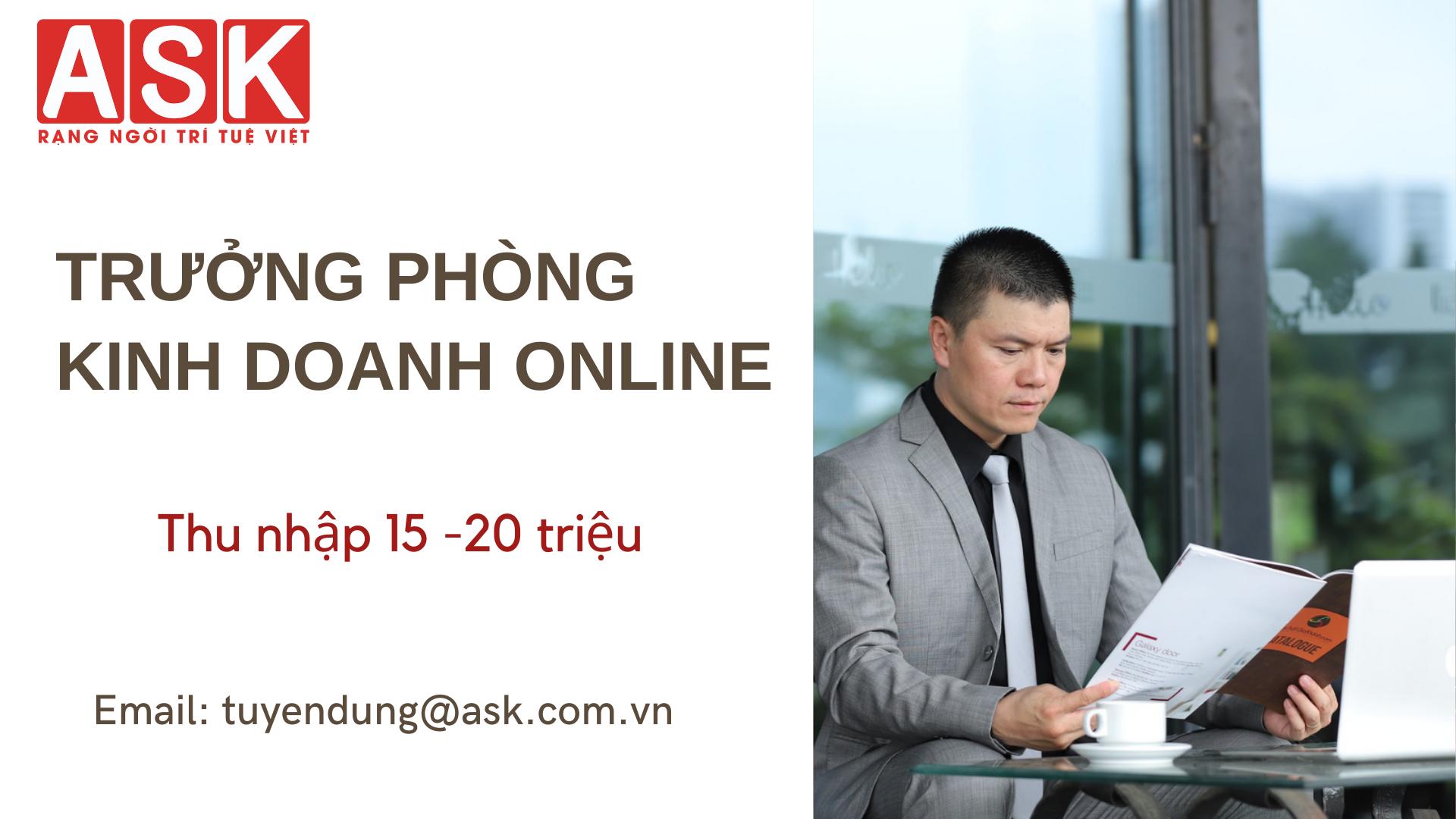 TRƯỞNG PHÒNG KINH DOANH ONLINE
